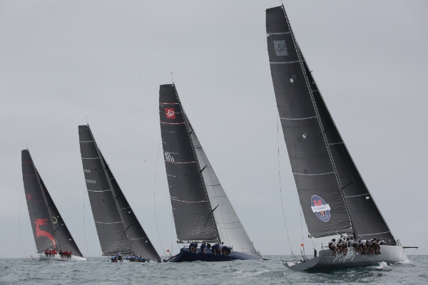 After three days of extremely close racing, it was Beau Geste (far left) that triumphed as IRC Class One and overall winners of the 2016 IRC Nationals at Bay Week.