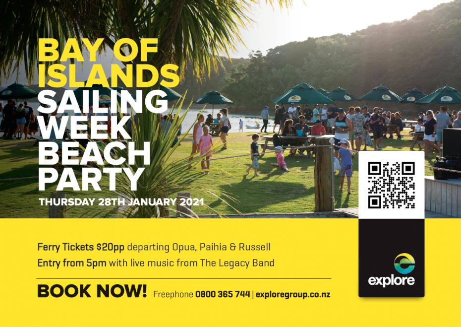 bay of islands sailing week beach party 2021